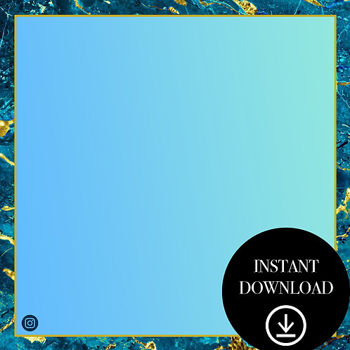 Premade Template(teal marble)-Instant Download