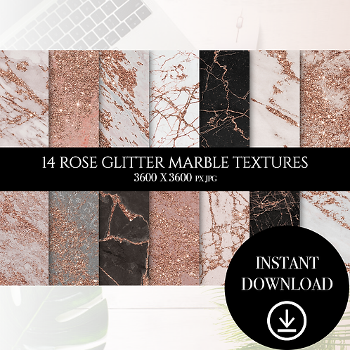 Rose Glitter Marble textures