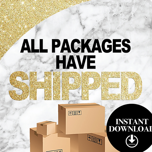 Packages Shipped (Gold)-Instant download