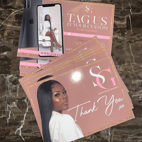 Printed Thankyou Cards