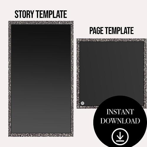 (2)Premade Template(black)-Instant Download