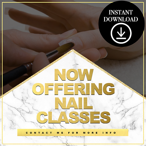 Nail Classes(gold) - Instant Download