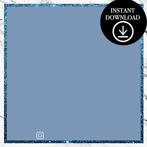 Premade Template(blue)-Instant Download