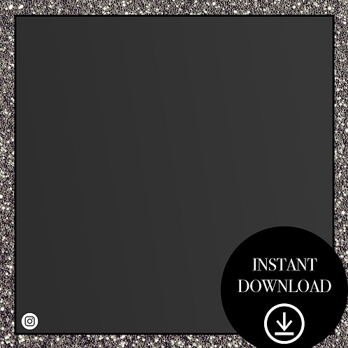 Premade Template(black glitter)-Instant Download
