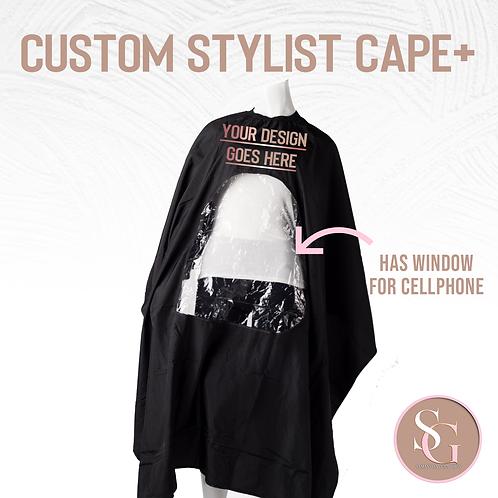 Stylist cape+