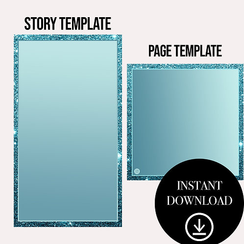 (2)Premade Template(blue)-Instant Download