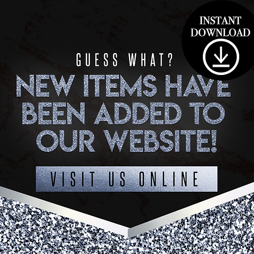 New items(blue)- Instant Download