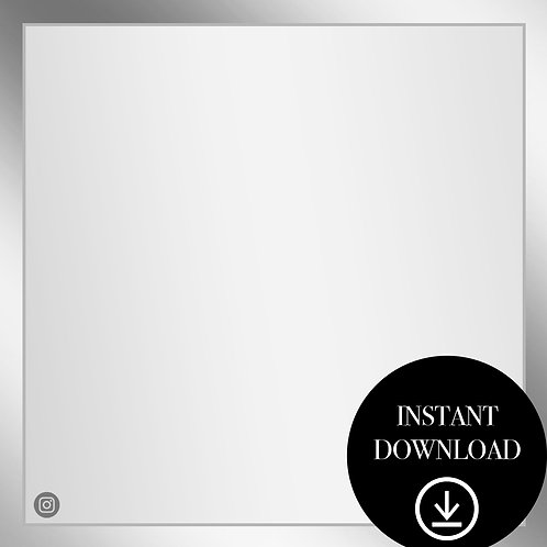 Premade Template(silver)-Instant Download