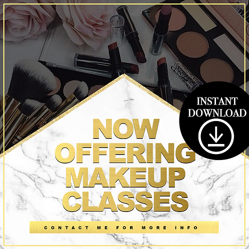 Makeup classes(Gold)- Instant Download