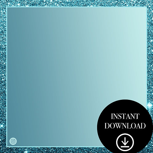 Premade Template(teal glitter)-Instant Download