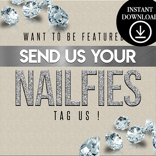 Nailfies(silver)- Instant Download