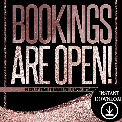 Bookings(rose)- Instant Download