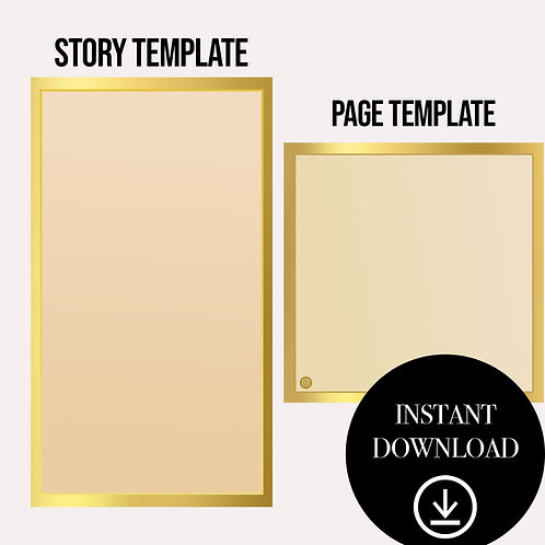 (2)Premade Template(gold)-Instant Download