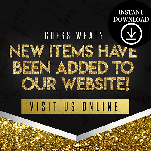 New items(gold)- Instant Download