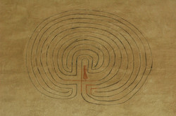 Sipoo/ Finland - Church painted labyrinth