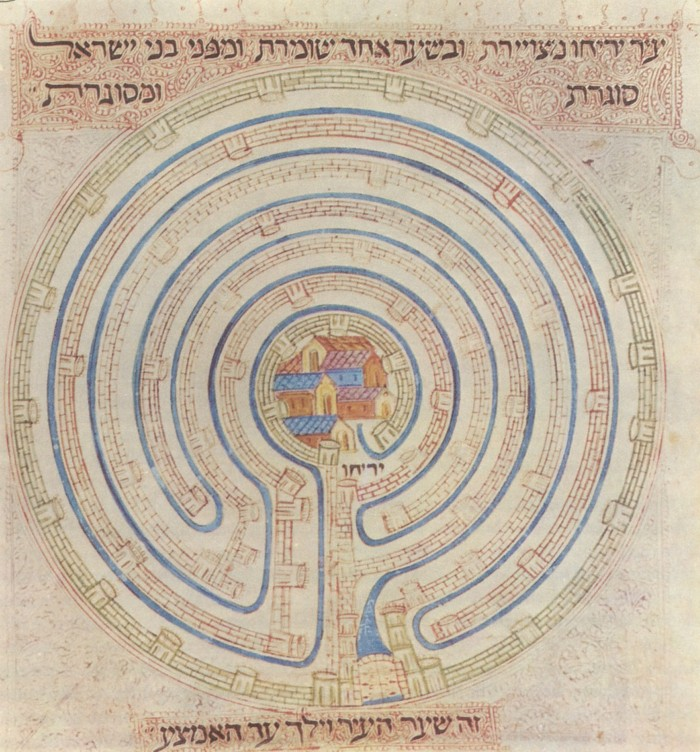 A labyrinthine map of Jericho