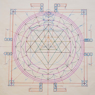 Drawing the Shri Yantra at SAOG Studios