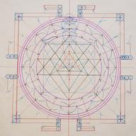 Drawing the Shri Yantra at SAOG Studios