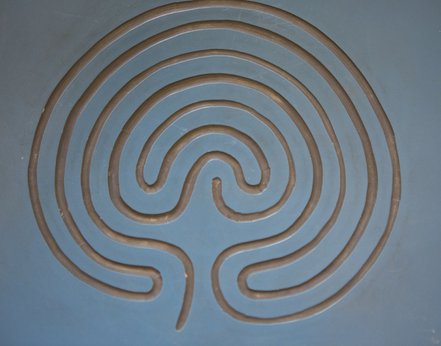 7 coiled 'Cretan' Labyrinth