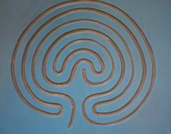 7 coiled 'Cretan' Labyrinth