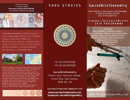 Sacred Art of Geometry (SAOG Studios) 2019 courses