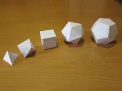 Build a set of Platonic Solids