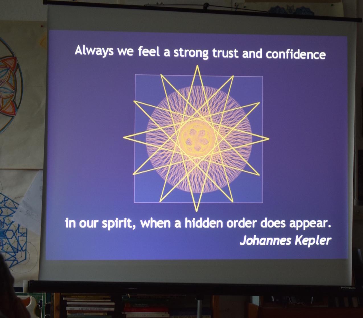 J. Kepler quote