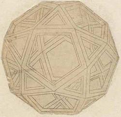 Da Vinci drawn Icosidodecahedron