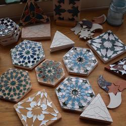 Tile making in progress at SAOG Studios