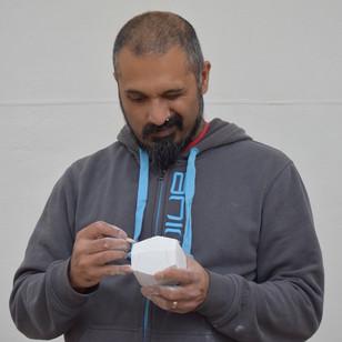 Ameet Hindocha carving the Plato