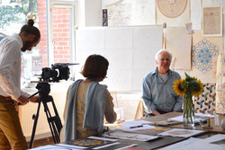Keith Critchlow filming the Art of the Ever-True at SAOG Studios