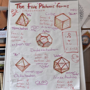 The five Platonic forms