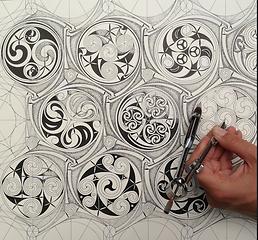 Celtic Pattern with Adam Tetlow at SAOG Studios