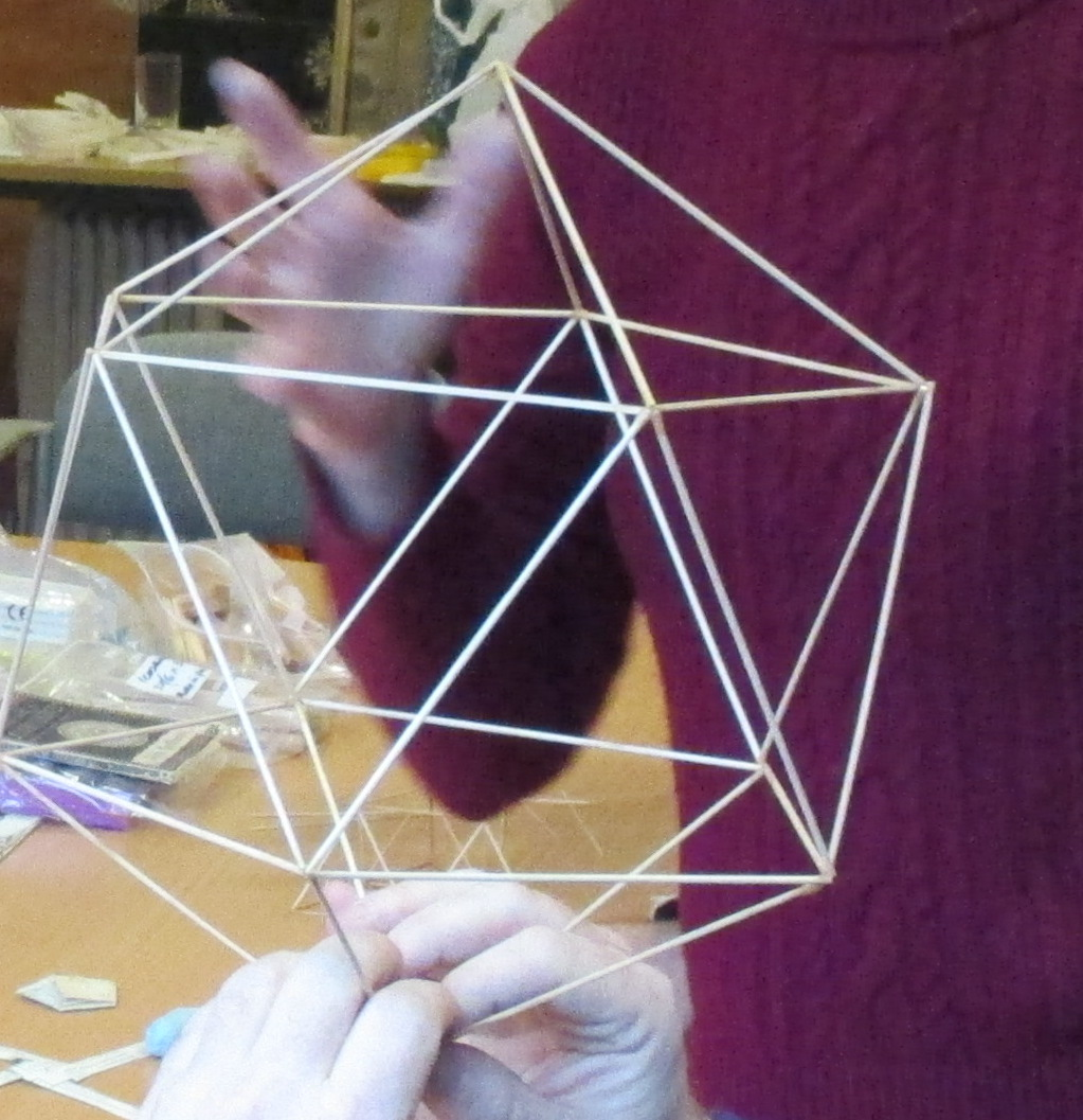 Icosihedron stick model