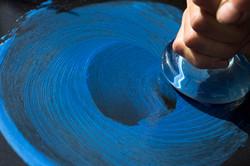 Azurite blue