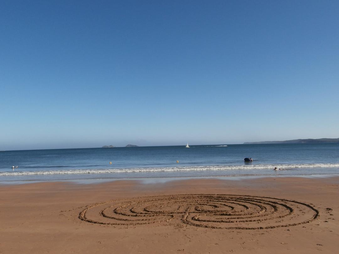 Sand labyrinths