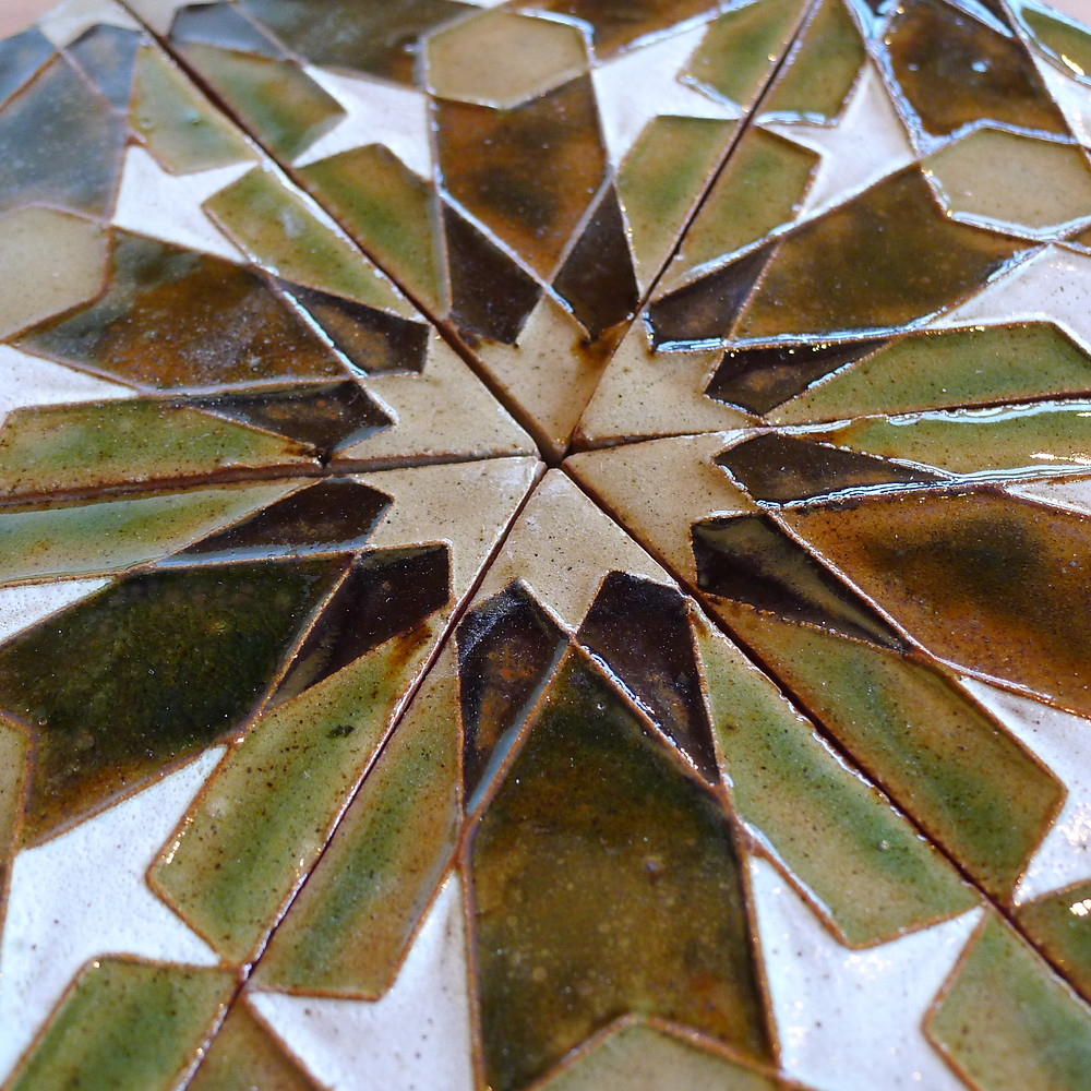 Our spring Patterns from the Alhambra Tile-making workshop at Tablehurst farm was a great success, and we are happy to share such beautiful results!  SAOG took the participants through the entire tile-making process, from design, to mould making, tile-pressing, and glazing.