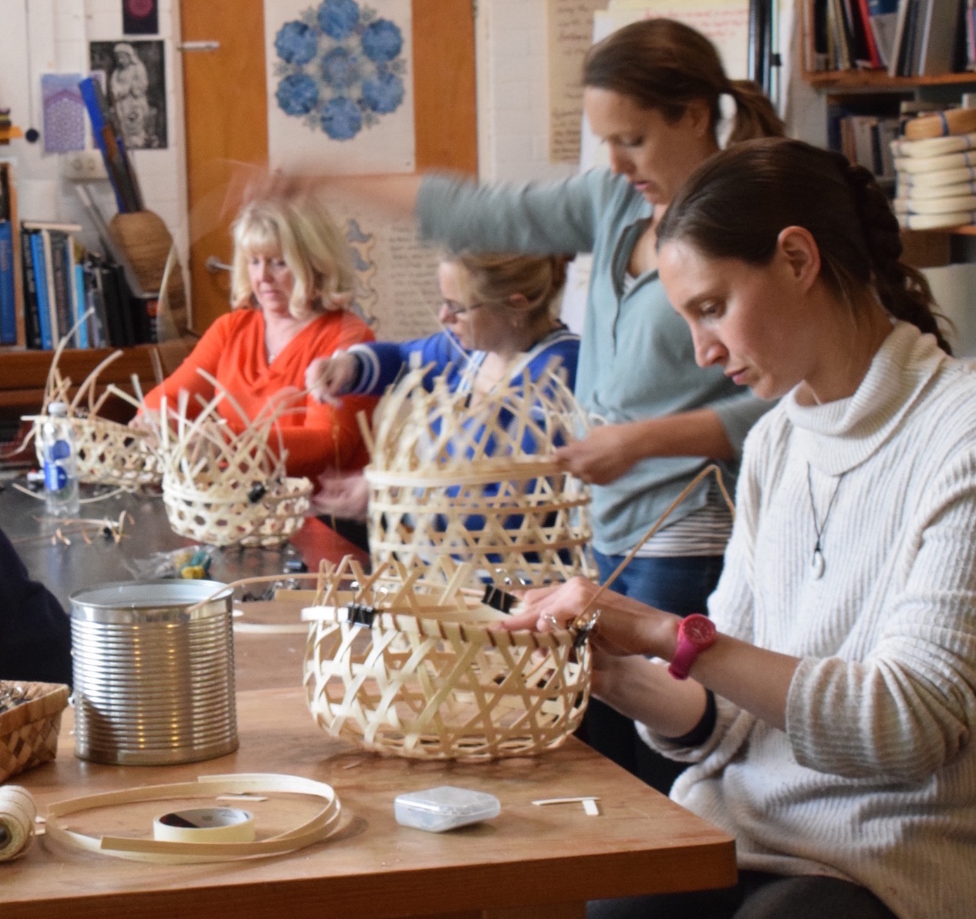 Hexagonal Weave Basketry