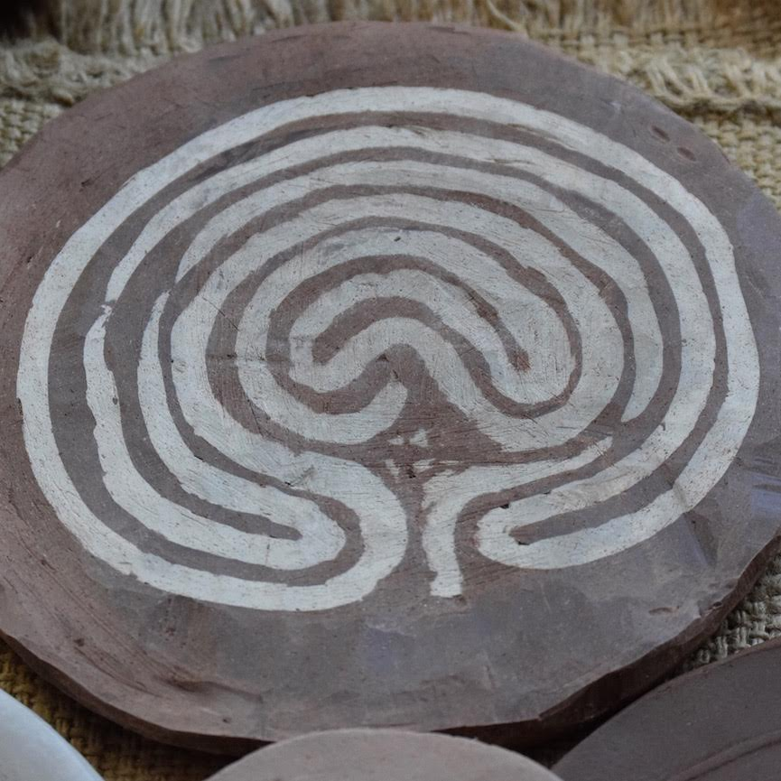 Ceramic 'Cretan' Labyrinth