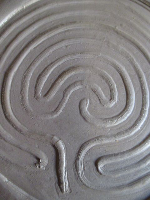 Make a clay finger labyrinth