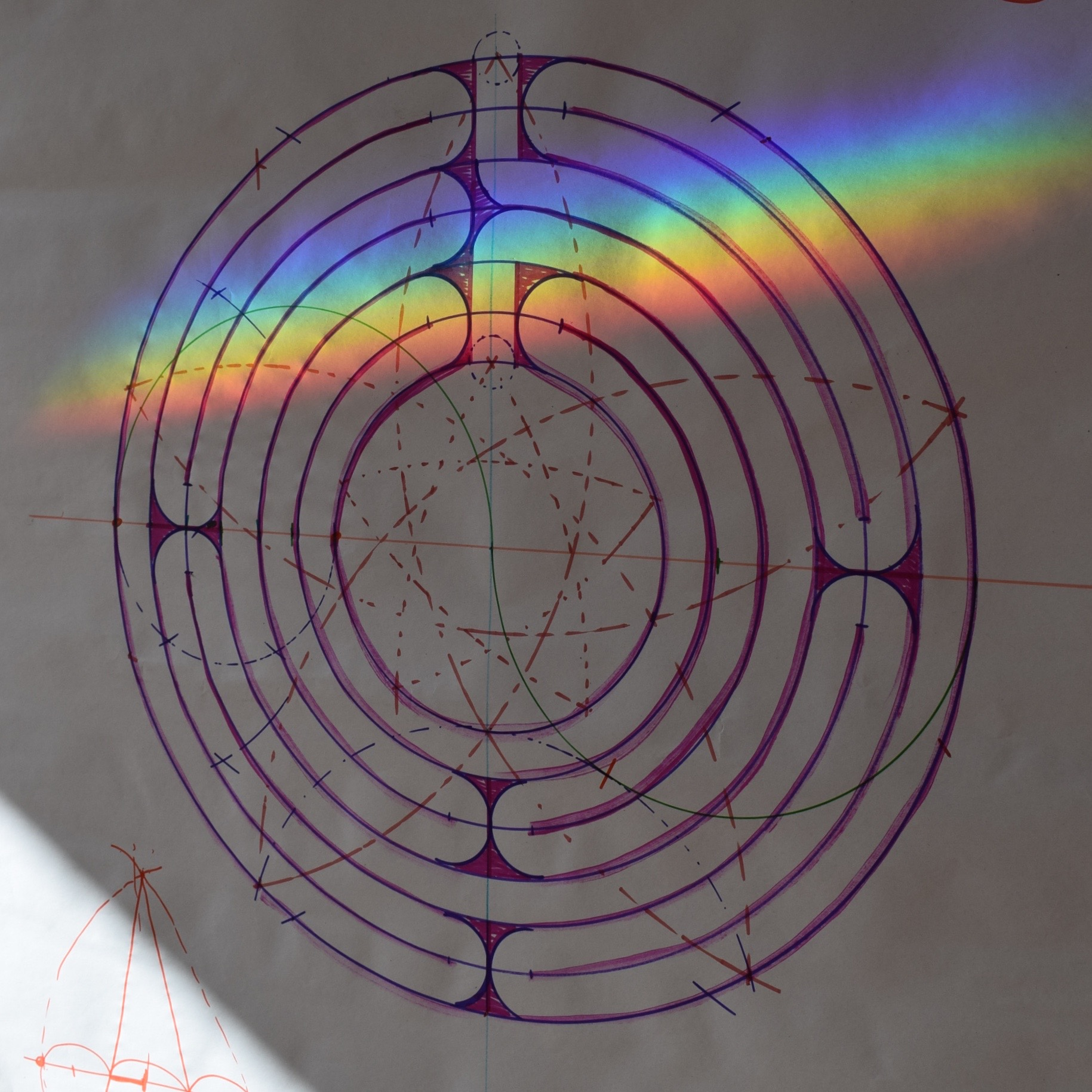 The seven-fold rainbow labyrinth