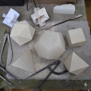 Carving the Platonic Solids