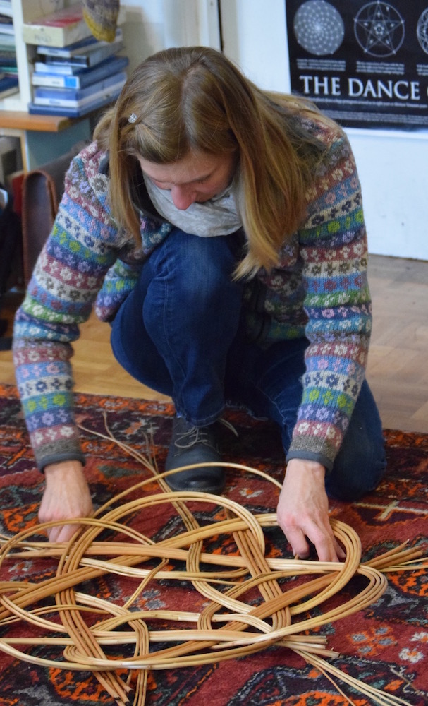 Learn to weave a celtic knot basket