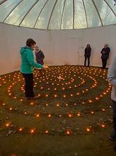 Candle Labyrinth at SAOG Studios