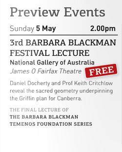 Barbara Blackman Temenos Lecture