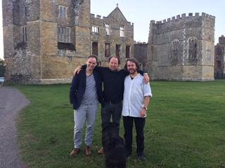 Temenos Academy at Cowdray Park tutors Tom Bree, Daniel Docherty and Valentin Gerlier