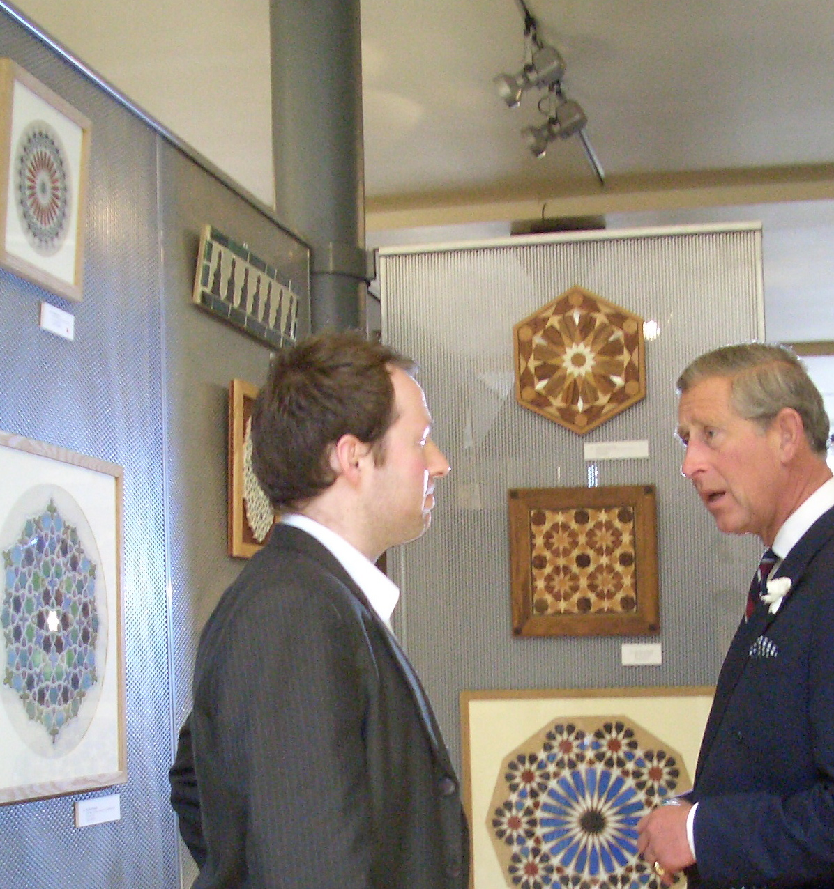 Daniel Docherty and HRH