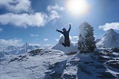 Tete Blanche, med Matterhorn bak