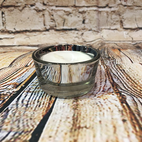 Silver Mirror Tea Candle Holder