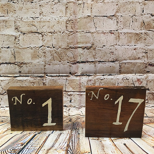 Wood Table Numbers - Digit
